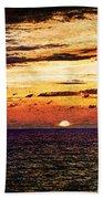 Cinque Terre - Sunset From Manarola - Panorama - Vintage Version Bath Towel