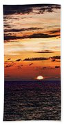 Cinque Terre - Sunset From Manarola - Panorama Bath Towel