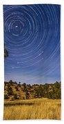 Circumpolar Star Trails Over Mimbres Bath Towel