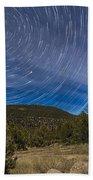 Circumpolar Star Trails Over The Gila Bath Towel