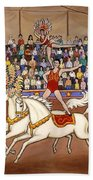 Circus Bareback Riders Bath Towel