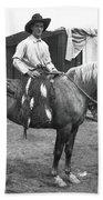 Circus Cowboy On Horse Bath Towel