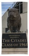 Citadel Bulldog Bath Towel