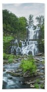 Cittenango Falls Tilt Shift Panorama  Bath Towel