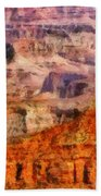 City - Arizona - Grand Canyon - Kabob Trail Bath Towel