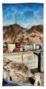 City - Nevada - Hoover Dam Bath Towel