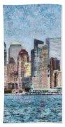 City - Ny - Manhattan Hand Towel