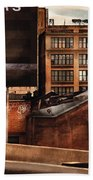 City - Ny - New York History Bath Towel