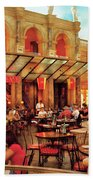 City - Vegas - Cesar's - Lunch In Italy Bath Towel