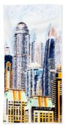 City Abstract Hand Towel