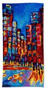 City After The Rain Bath Towel