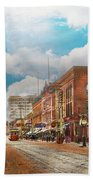City - Arkansas - Main St 1925 Bath Towel