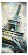 City-art Paris Eiffel Tower Iv Bath Sheet by Melanie Viola