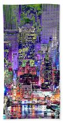 City Art Syncopation Cityscape Hand Towel
