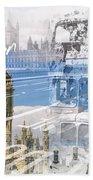 City Art Westminster Collage Bath Towel