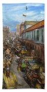 City - Baltimore Md - Traffic On Light Street - 1906 Bath Towel