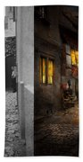 City - Germany - Alley - Coming Home Late 1904 - Side By Side Bath Towel