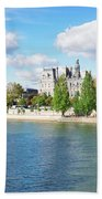 Seine River Embankment Bath Towel