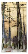 City In Trees Bath Towel