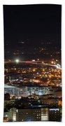 City Lights Over Bham, Al Bath Towel
