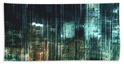 City Night Lights Bath Towel