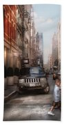 City - Ny - Walking Down Mercer Street Bath Towel