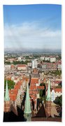 City Of Gdansk Aerial View Hand Towel