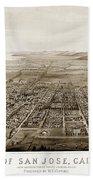 City Of San Jose County Of Santa Clara 1875 Bath Towel