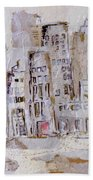 City On The River  Bath Towel