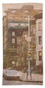 City Streets In Grunge 2 Bath Towel