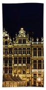 Cityscape In Brussels Europe - Landmark Of Brussels, Belgium Bath Towel