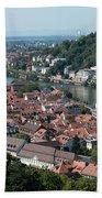 Cityscape  Of Heidelberg In Germany Bath Towel
