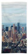 Cityscape View Of Manhattan, New York City. Bath Towel