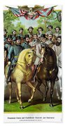 Civil War Generals And Statesman With Names Hand Towel
