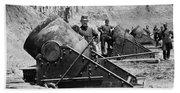 Civil War: Union Mortars Bath Towel