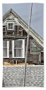 Clapboards And Tar Paper Bath Towel