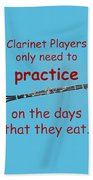 Clarinets Practice When They Eat Bath Towel