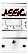 Classical Music Tape Cassette Bath Towel