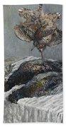 Claude Monet 1840 - 1926 Pheasant, Woodcock And Partridge Bath Towel