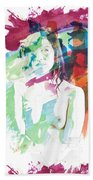 Claudia Nude Fine Art Painting Print In Sensual Sexy Color 4887. Bath Towel