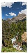Clear Creek, Flat Top Mountain Bath Towel