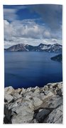 Clearing Storm At Crater Lake Bath Towel
