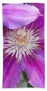 Clematis Flowers Bath Towel