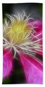 Clematis In Pink Bath Towel