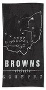 Cleveland Browns Art - Nfl Football Wall Print Bath Towel by Damon Gray