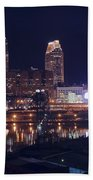Cleveland With Full Moon Bath Towel