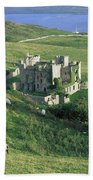 Clifden Castle, Co Galway, Ireland 19th Bath Towel