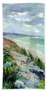 Cliffs By The Sea At Trouville  Bath Towel