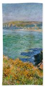 Cliffs Near Pourville Bath Towel