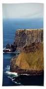 Cliffs Of Moher Ireland View Of Aill Na Searrach Bath Towel